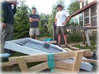 the construction of a solar panel for our house